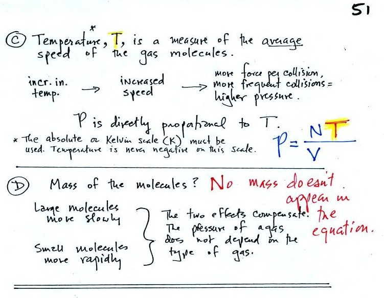 Ideal gas law, forces that cause air to rise or sink