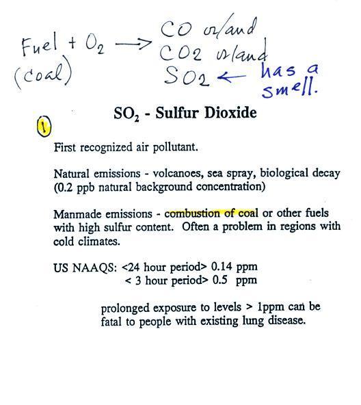 Lecture 3 - Air Pollutants pt2: Sulfur dioxide, acid rain, and ...