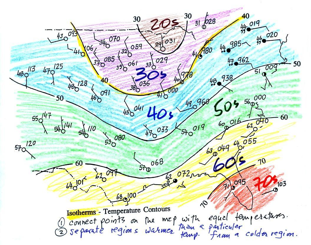 A Steep Or Strong Pressure Gradient Appear On A Weather Map As.Lecture 8 Surface Weather Map Analysis