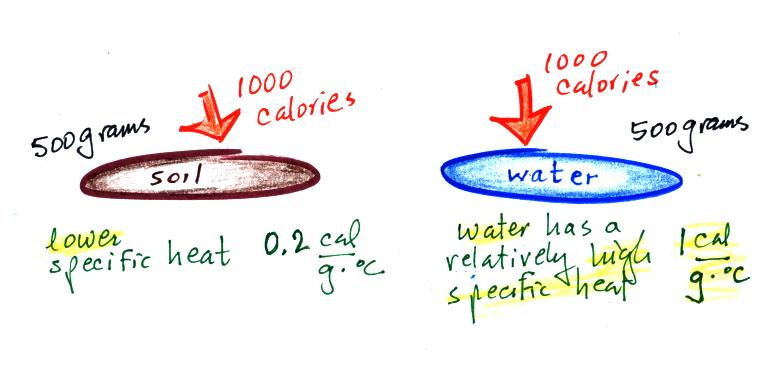 Heat of vaporization for water