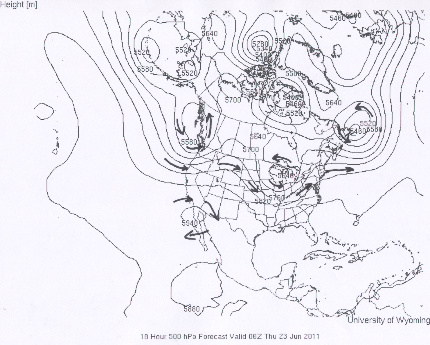 ATMO Fall - Us weather map with high and low pressure