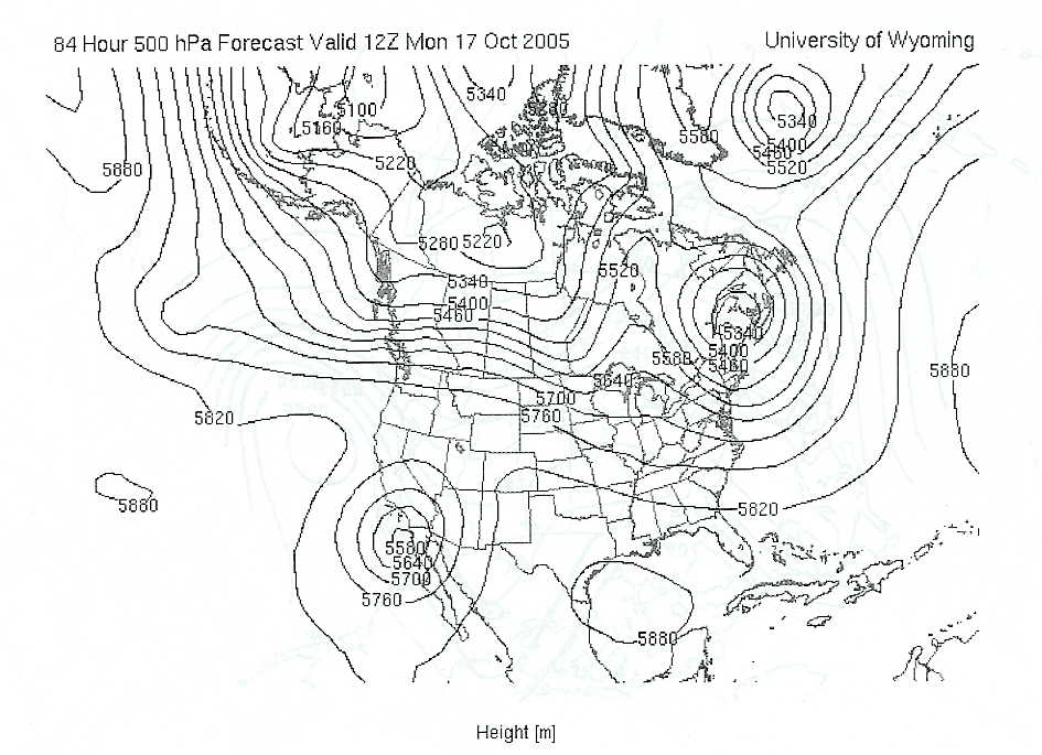 500 Mb Map Containing A Cutoff Low