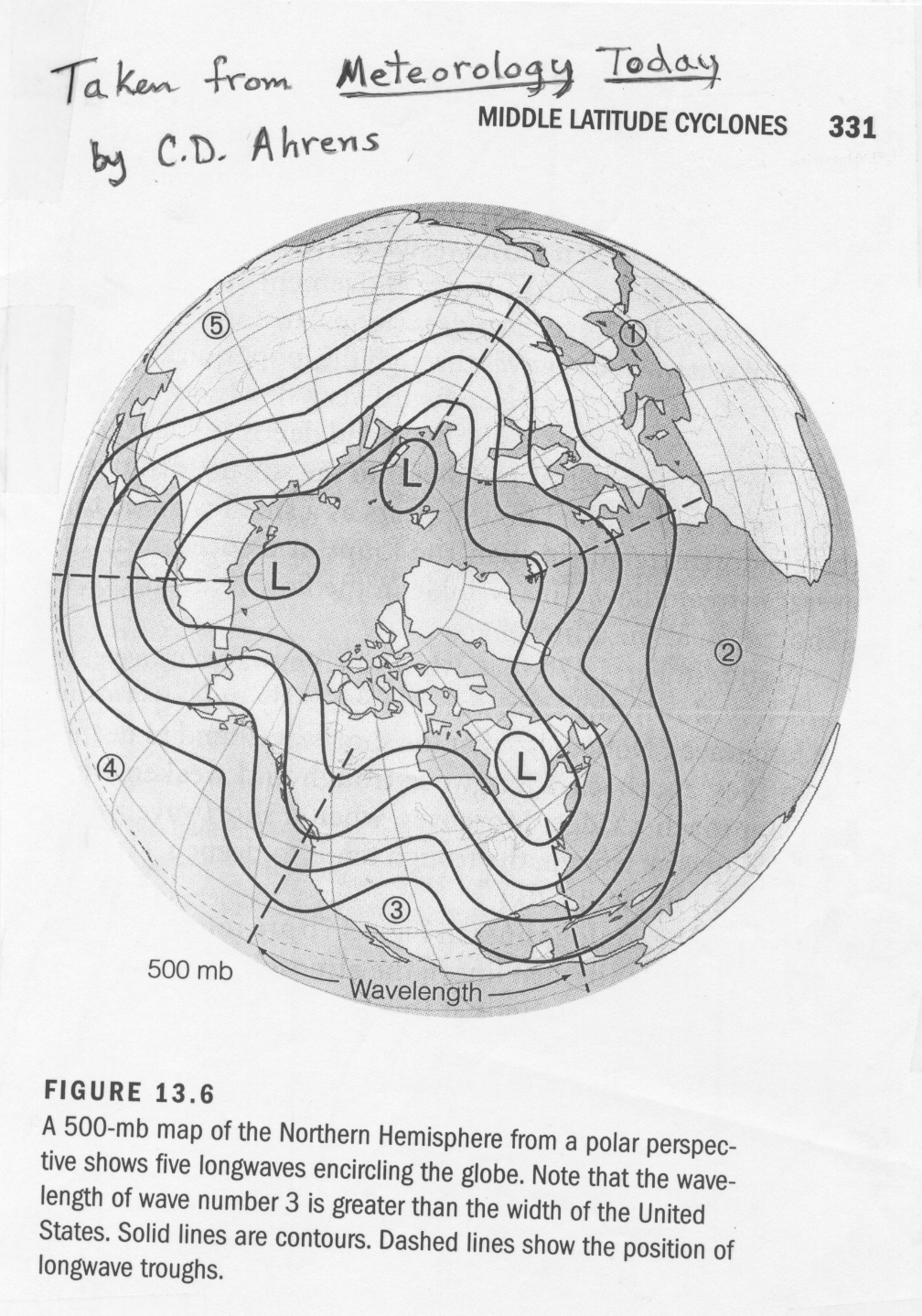 First Recall That The Height Of The 500 Mb Surface Is Related To The Density Averaged Temperature Of The Atmosphere Below 500 Mb The Higher The