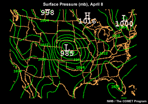 the unit of pressure most commonly found on a surface weather map Atmo336 Spring 2012