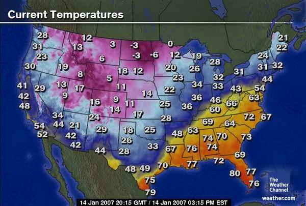 ATMO Spring - Us pressure map forecast