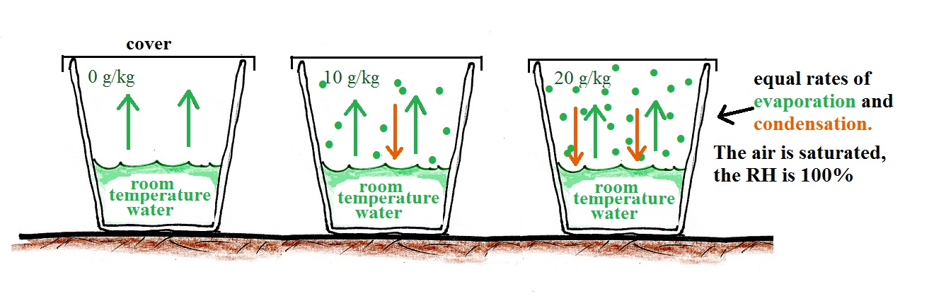 Saturation Of Air With Water Vapor